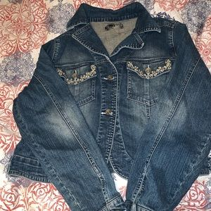 Denim Jacket with Embroidered Pockets Nine-Eight